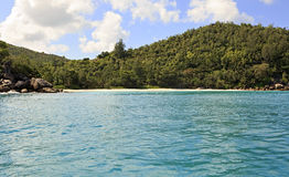 Beach Anse Georgette in Praslin island Stock Images