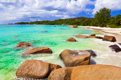 Beach Anse Lazio at island Praslin, Seychelles Stock Photo
