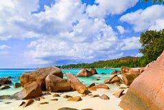 Beach Anse Lazio at island Praslin, Seychelles Stock Photo