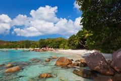 Beach Anse Lazio at island Praslin Seychelles Stock Image