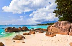 Beach Anse Lazio at island Praslin, Seychelles Stock Photography