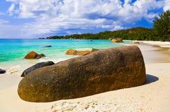 Beach Anse Lazio at island Praslin, Seychelles Royalty Free Stock Photos