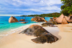 Beach Anse Lazio at Seychelles Royalty Free Stock Image