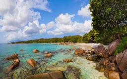 Beach Anse Lazio - Seychelles Stock Photography