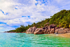Beach Anse Lazio at Seychelles Royalty Free Stock Photos