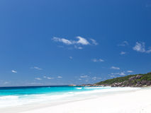 Beach Anse Lazio with white sand Royalty Free Stock Images
