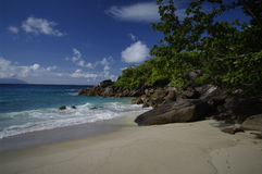 Beach at Anse Major, Seychelles Stock Photography
