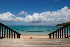 Beach in Anse-Marcel in St-Marteen Stock Images