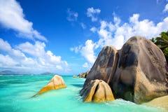 Beach Anse Source d'Argent Royalty Free Stock Photos