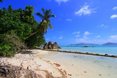 Beach Anse source d'Argent Seychelles islands Royalty Free Stock Photography