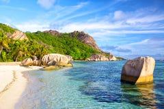 Beach Anse Source d'Argent Stock Images