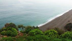 Beach in Antalya Turkey in Rainy Day. Video stock video