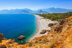 Beach at Antalya Turkey Stock Image