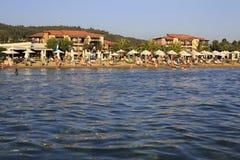 Beach of Anthemus Sea Hotel. Stock Photo