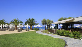 Beach of Anthemus Sea Hotel. Royalty Free Stock Images