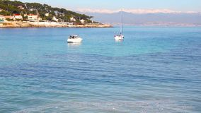 Beach in Antibes, South of France stock video