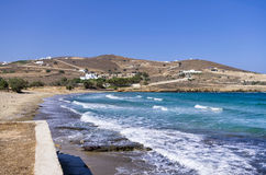 Beach in Antiparos island, Cyclades Stock Photography