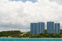 Beach apartments. Or hotels in asia Royalty Free Stock Image