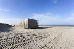 Beach with apartments in Hoek van Holland. In the Netherlands Stock Photography