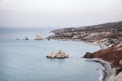 Beach of Aphrodite in Cyprus Royalty Free Stock Images