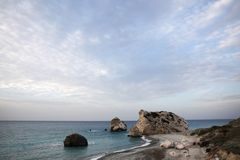 Beach of Aphrodite in Cyprus Stock Image