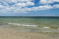 Plymouth Long Beach, MA, USA. The beach is approximately three miles in length. It begins just south of the Eel River bridge on Route 3A, and juts out almost due Royalty Free Stock Photos