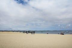 Beach of Arcachon, Aquitaine, France. Beach of Arcachon, Aquitaine land Royalty Free Stock Photos