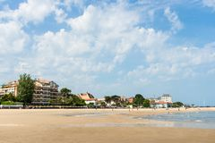 The beach of Arcachon, France. The main beach of Arcachon, in France Stock Photography