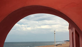 Beach arch view Stock Image