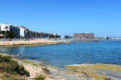 The beach area of the city   Torrevieja Royalty Free Stock Image