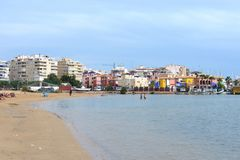 The beach area of the city  in Torrevieja. Stock Image