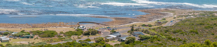 Beach area south of the Slangkop Lighthouse at Kommetjie Royalty Free Stock Images