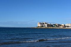 The beach area in Torrevieja Stock Images