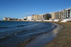 The beach area in Torrevieja Stock Image