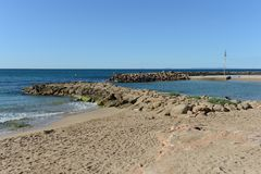The beach area in Torrevieja Stock Photos