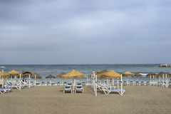 Beach areas of the Costa del Sol in Andalusia, Fuenguirola in the province of Malaga Stock Photo