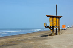 Beach at the argentinean atlantic coast Royalty Free Stock Photography