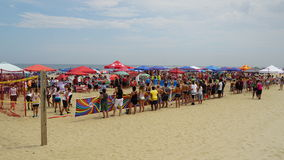 Beach at Asbury Park in New Jersey Stock Photography