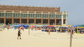 Beach at Asbury Park in New Jersey Stock Images