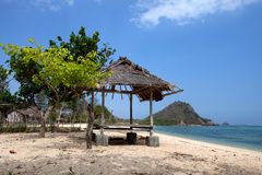Beach in asia. Beach of Kuta on Lombok in Indonesia Stock Images