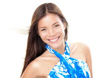 Beach asian woman on summer holidays Stock Photos