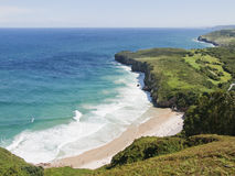 Beach in asturias, Spain. Viewpoint to the beach in Asturias, Spain Royalty Free Stock Images