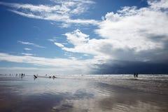 Beach of Atalaia Aracaju stock photo