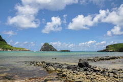 Beach of Atalaia on Fernando de Noronha island, Pernambuco (Braz Royalty Free Stock Image
