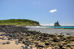 Beach of Atalaia, Fernando de Noronha, Pernambuco (Brazil) Royalty Free Stock Photography