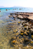 Beach in athens , Greece Royalty Free Stock Photo