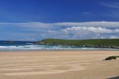 Beach and Atlantic cliffs, Cornwall, England, UK. Royalty Free Stock Photography