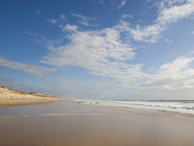 Beach on the Atlantic Coast of France Stock Image