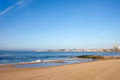 Beach by the Atlantic Ocean in Cascais Stock Image