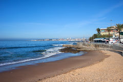Beach and Atlantic Ocean in Estoril Stock Image
